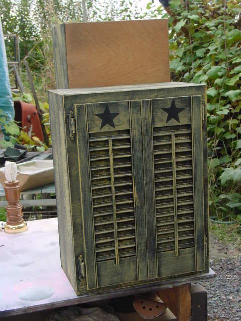 Primitive Shutter Cupboard Aj S Trash2treasure Blog