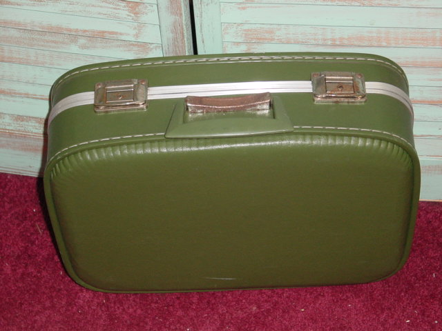 Vintage Green Suitcase | Luggage And Suitcases