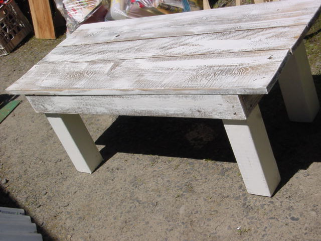 Michael's coastal cottage salvaged wood coffee table ~ trash to ...
