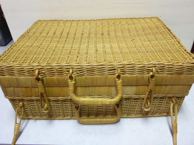 wicker suitcase | AJ's Trash2Treasure BLOG