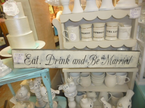 Perfect sign for a wedding dessert buffet.