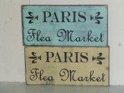 """$19. PARIS FLEA+FLEURS: 6"""" X 12"""""""
