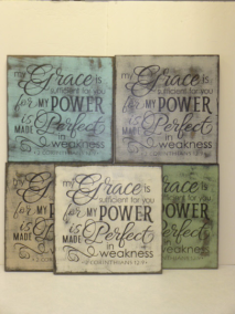 "$32. MY GRACE IS: 12"" X 12"""