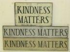 """$24. KINDNESS MATTERS: 1 LINE- 4"""" X 24 / 2 LINE - 13"""" X 9"""""""