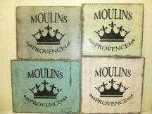 "$32. MOULINS PROVENCE: 12"" X 12"""