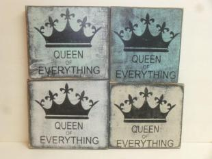 "$24. QUEEN EVERYTHING: 9"" X 9"""