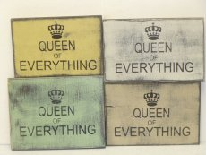 "$19. QUEEN EVERYTHING: 6"" X 9"""
