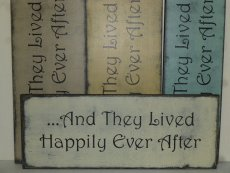 "$39. AND THEY LIVED HAPPILY: 7"" X 22"""