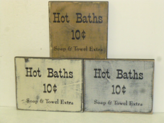 "$10. HOT BATHS: 8"" X 8"""