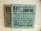 """$29. BE WHO YOU ARE: 12"""" X 12"""""""