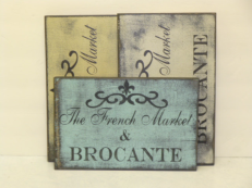 """$25. FRENCH...BROCANTE: 7"""" X 12"""""""