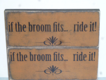 """$17. IF THE BROOM FITS: 5"""" X 12"""""""