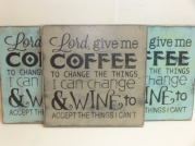 "$29. GIVE ME COFFEE: 12"" X 12"""