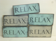 "$8. RELAX: 4"" X 8"""