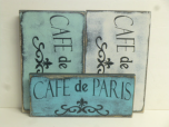 "$25. CAFE DE PARIS: 6"" X 12"""
