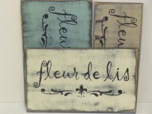 """$17. FLEUR DE LIS: 6"""" X 12"""""""