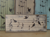 "$22. MUSIC BIRDS: 5"" X 12"""