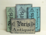 "$25. PARIS ANTIQUES: 7"" X 12"""