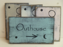"$15. OUTHOUSE: 5"" X 8"""