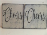 "$9. CHEERS: 6"" X 6"""