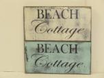 """$22. BEACH COTTAGE: 6"""" X 9"""""""