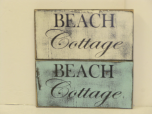 "$22. BEACH COTTAGE: 6"" X 9"""