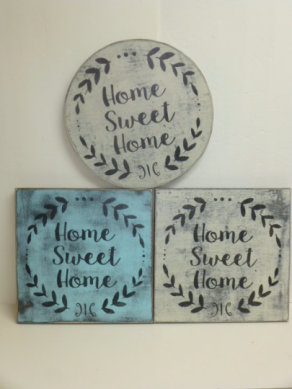 "$22. ($29. ROUND) HOME SWEET HOME: 7"" X 8"""