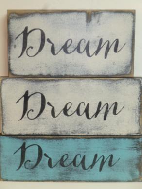 "$12. DREAM: 4"" X 12"""