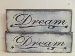 "$15. DREAM: 4"" X 12"""