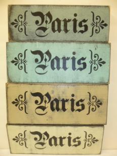 """$15. PARIS+ FLEURS: 4"""" X 12"""""""
