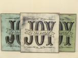 "$24. JOY -BANNER: 12"" X 10"""