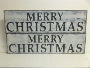 "$29. LG MERRY CHRISTMAS: 6"" X 22"""