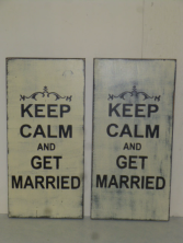 "$22. KEEP CALM-MARRIED: 8"" X 16"""