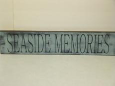 "$29. SEASIDE MEMORIES: 6"" X 26"""