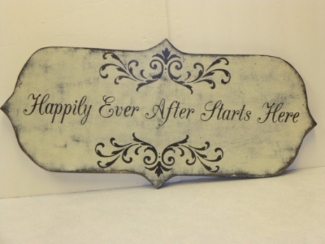 "$59. HAPPILY EVER - SPECIAL CUT: 12"" X 26"""