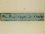 "$25. THE EARTH LAUGHS: 4"" X 25"""