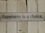 """$24. HAPPINESS IS CHOICE: 4"""" X 24"""""""