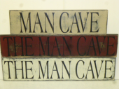 "$29. THE MAN CAVE: 6"" X 24"""