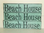 "$29. LG BEACH HOUSE: 6"" X 25"""