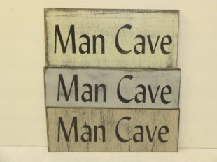 "$15. SM MAN CAVE: 4"" X 12"""