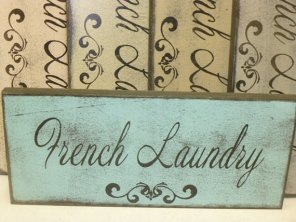 $19. 1 LINE FRENCH LAUNDRY: 13″ X 5″