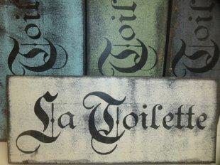 $19. LA TOILETTE-SM: 5″ X 12″