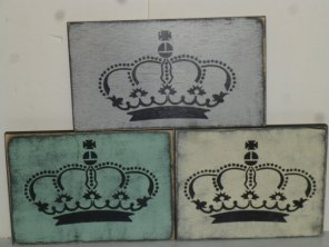 "$15. CROWN ONLY: 8"" X 12"""