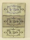 """$19. LE BAIN: 6"""" X 12"""""""