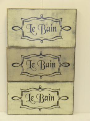 """$19. LE BAIN: 6″ x 12"""""""