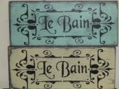 $19. LE BAIN-B: 6″ X 12″