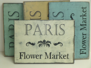 "$27. PARIS FLOWER: 9"" X 13"""