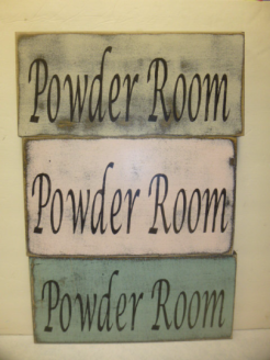 "$19. POWDER ROOM: 6"" X 13"""