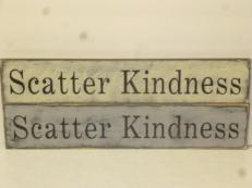 "$25. SCATTER KINDNESS: 5"" X 24"""