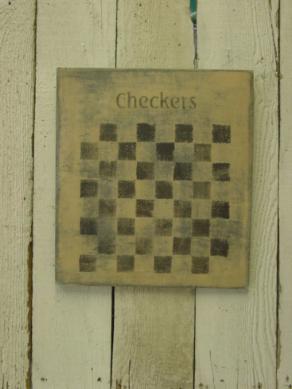 """$25. SM CHECKERBOARD: 12"""" X 14"""""""